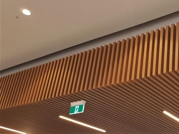Composite Timber Ceiling Innoceil Sps Building New Zealand
